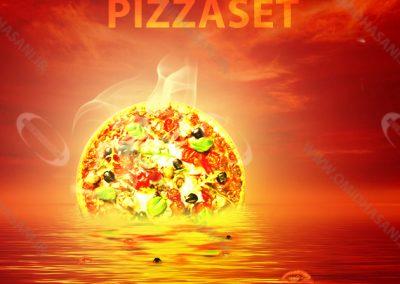 طراحی پوستر پیتزا ست